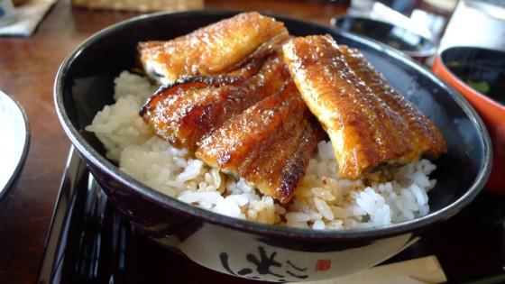 関西風蒲焼きの鰻丼